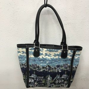 Talbots Canvas Tote with Venice print.